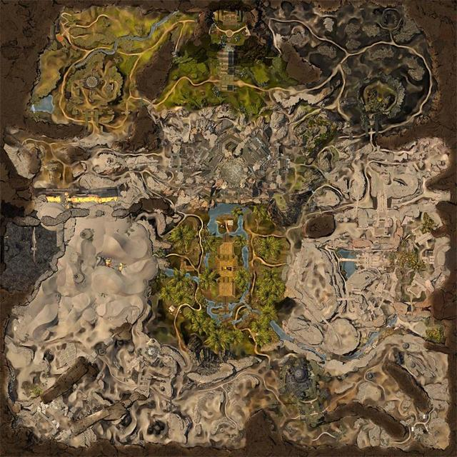 《激战2:荆棘之心》曝光新WvW沙漠地图