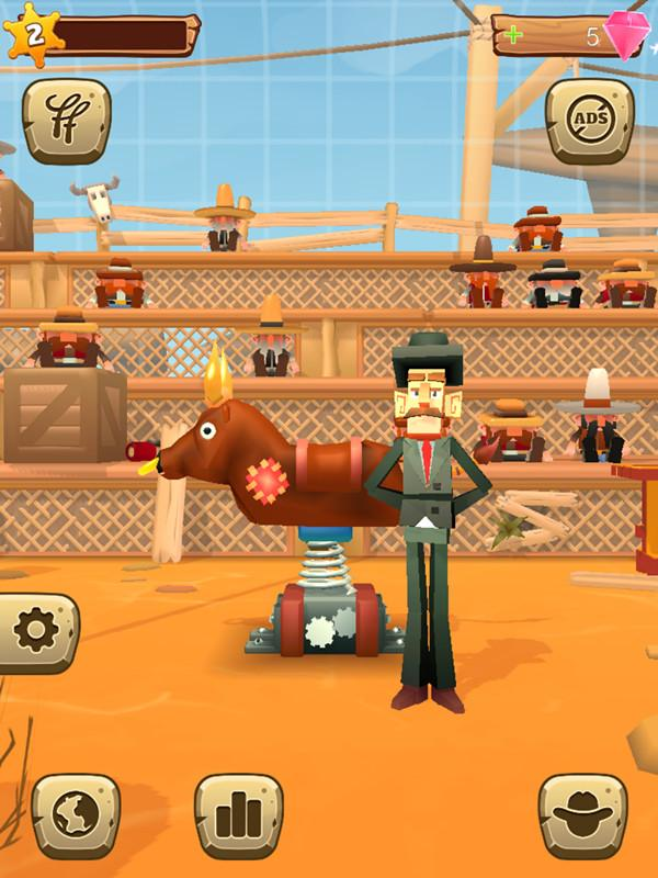 驯服机器蛮牛!休闲游戏《积木人驯蛮牛》上线