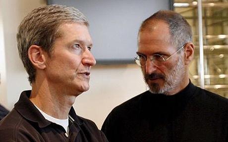 苹果董事会宣布乔布斯辞去CEO 库克接任