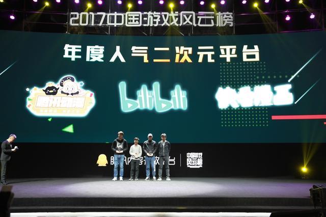 2017中国游戏风云榜:年度人气二次元平台公布
