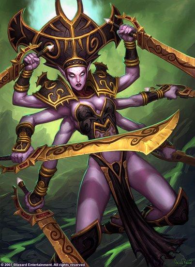 魔兽世界女BOSS:黑暗神殿 沙赫拉丝主母