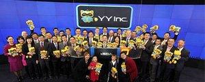 上市首日YY收报11.31美元 较发行价上涨7.71%