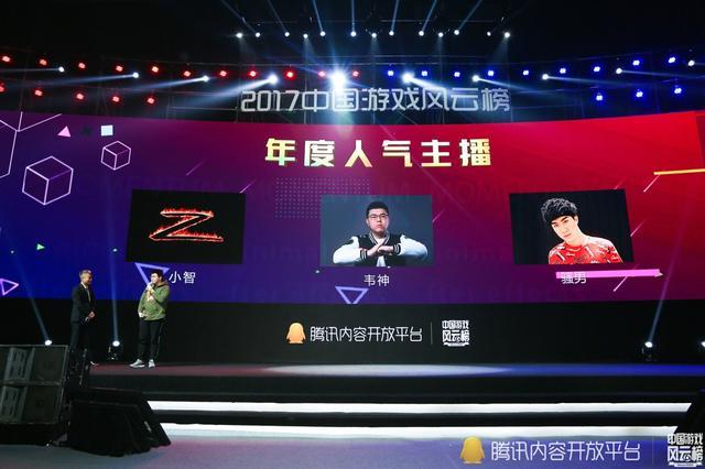 2017中国游戏风云榜:年度人气主播公布