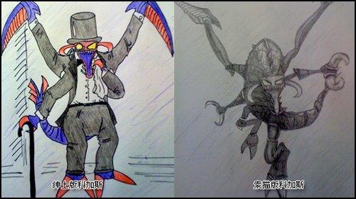 英雄联盟安妮素描《英雄联盟》玩家手绘作品 英雄联盟安妮