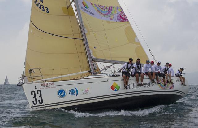 中国杯帆船赛:腾讯棋牌智慧号为爱扬帆