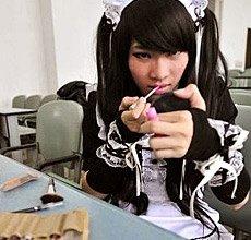 这么可爱一定是男孩纸 日本首家伪娘俱乐部开业