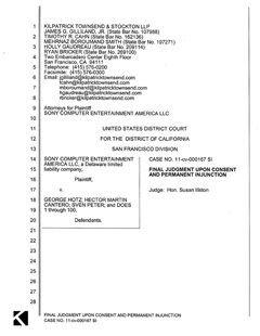 PS3黑客与索尼秘密和解 法庭文档泄露