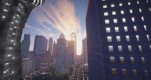 我的世界中如此巨大的城市 竟是国内玩家一人创造!