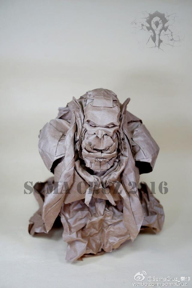 这个大神耗时五天 用一张纸折叠出了魔兽杜隆坦