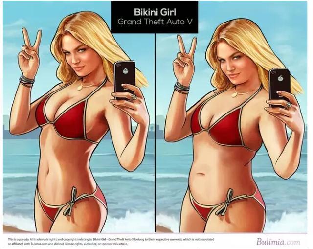 游戏美女变美国标准女性身材 不忍直视! 叶子