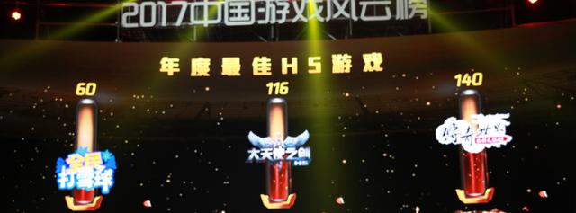 2017中国游戏风云榜:传奇世界之仗剑天涯H5荣获年度最佳H5游戏
