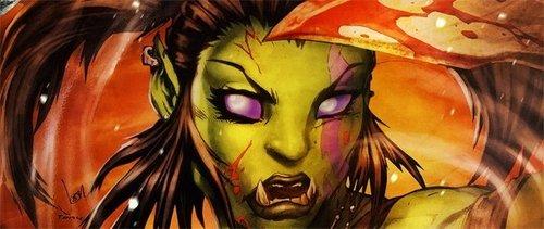 魔兽女英雄:罕见的兽人美女——迦罗娜