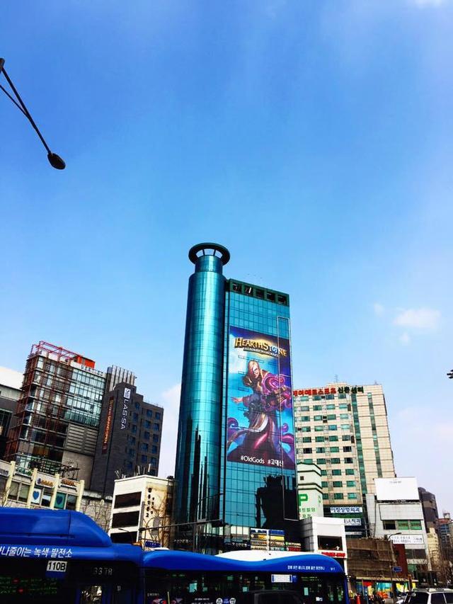 炉石街头宣传画蔓延到了亚洲
