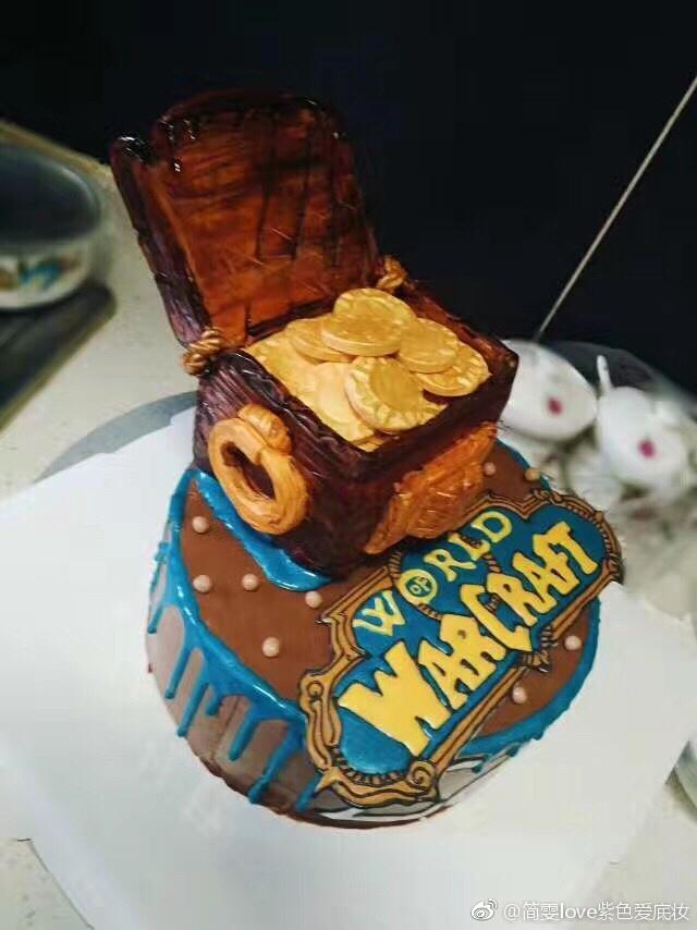 玩家定制魔兽生日蛋糕 庆祝丈夫达到30级