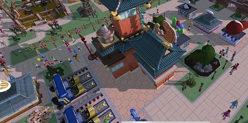 中华美食建筑登陆波克城市《过山车大亨》手游