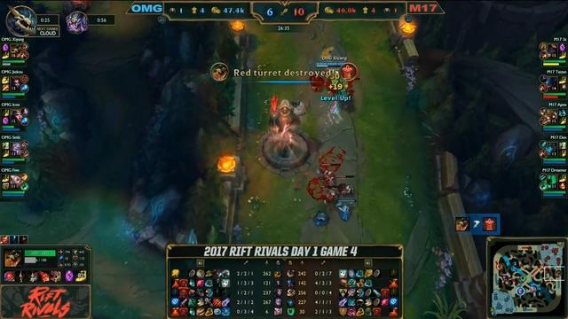 LOL洲际赛7月6日第四场:M17中期节奏起飞翻盘OMG拿下比赛胜利