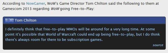 魔兽世界游戏总监:WOW未来或将转型免费网游
