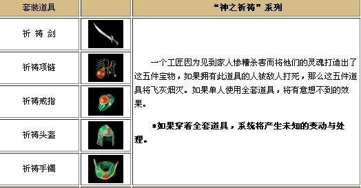 热血传奇手机版祈祷套装使用攻略
