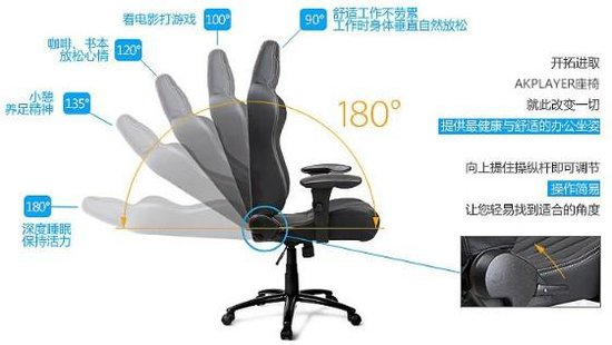 人体工学椅之王 AKPLAYER电竞游戏椅测评