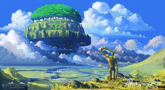 真信仰!宫崎骏《天空之城》手稿拍卖120万