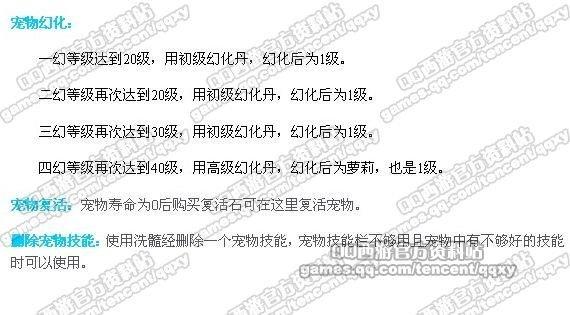 [QQ西游]各城宠物仙子详细操作说明