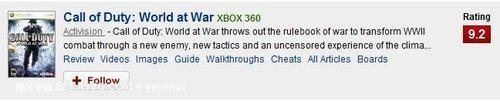 系列最低分!《使命召唤7》IGN8.5分