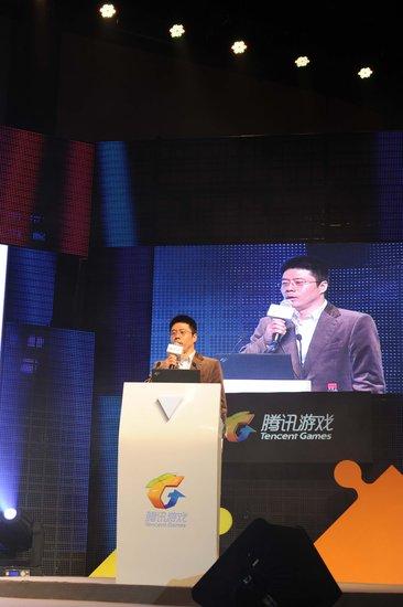 腾讯游戏副总裁程武出席发布会