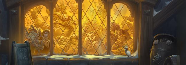 炉石传说本周乱 斗装饰暴风城赢取安戈洛新卡包