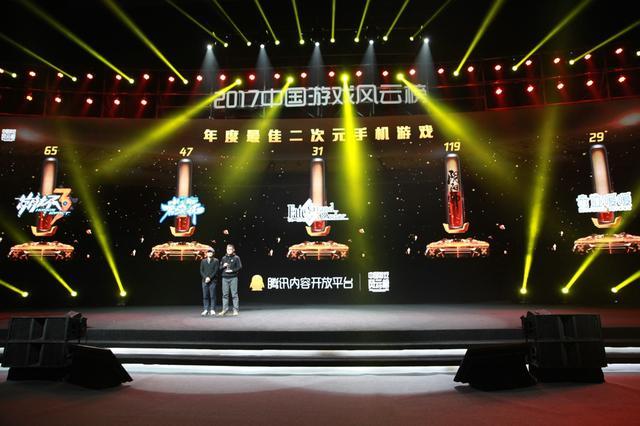 2017中国游戏风云榜:阴阳师荣获年度最佳二次元手机游戏