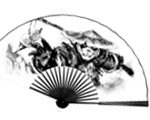 暴雪CJ熊猫人水墨折扇