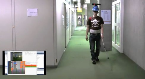 Kinect制成导盲仪 可为盲人指路