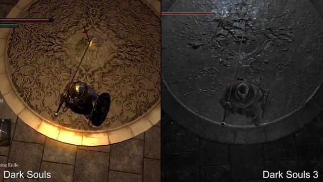 《黑暗之魂3》与初代画面效果对比!光影效果趋近完美