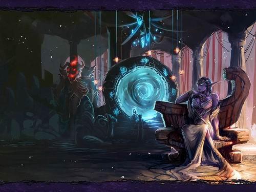 魔兽世界女英雄:上层精灵艾萨拉女王
