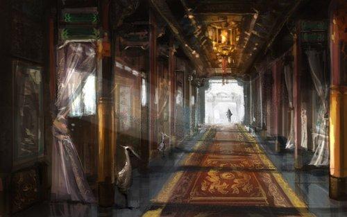 精美宫殿原画图片