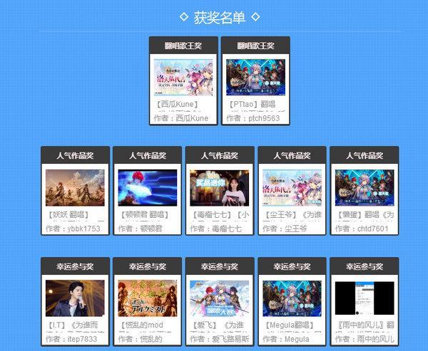 《为谁而炼金》B站翻唱大赛落幕 获奖名单正式出炉!