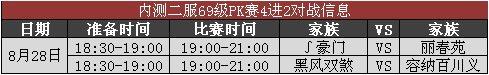 《神雕侠侣》家族PK赛40-69级4强赛程公布