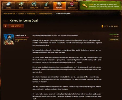 玩家愤怒:我丧失听觉的同时也丧失了游戏么?