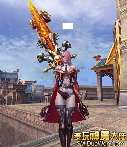 超帅超酷超有型的血魔女背巨剑美图