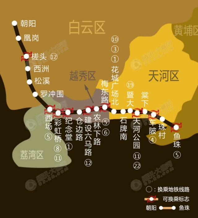 地铁十三号线二期线路图-为解压5号线 13号线 天河公园 鱼珠 或提前开图片