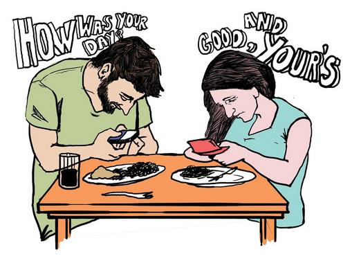 吃饭时玩手机易发胖 是真的吗?图片