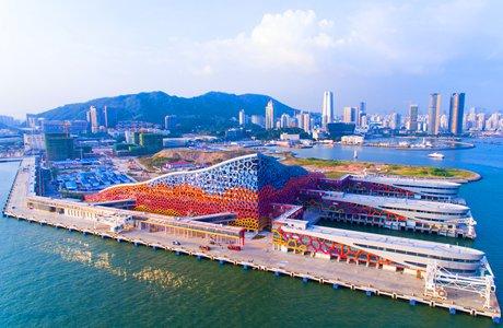 航拍华南最大的邮轮母港:就在深圳蛇口
