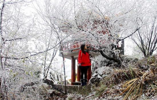 冷空气来袭 河源韶关迎今年入春首场大雪