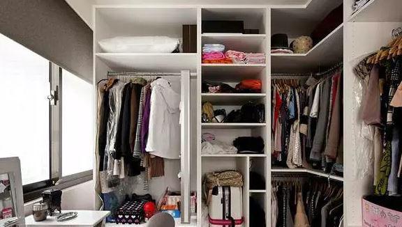 小户型也要优雅的安装衣帽间,效果不比别墅户型差