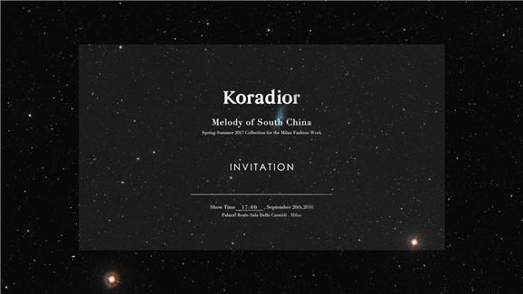 Koradior再绽米兰时装周 大皇宫压轴巨献