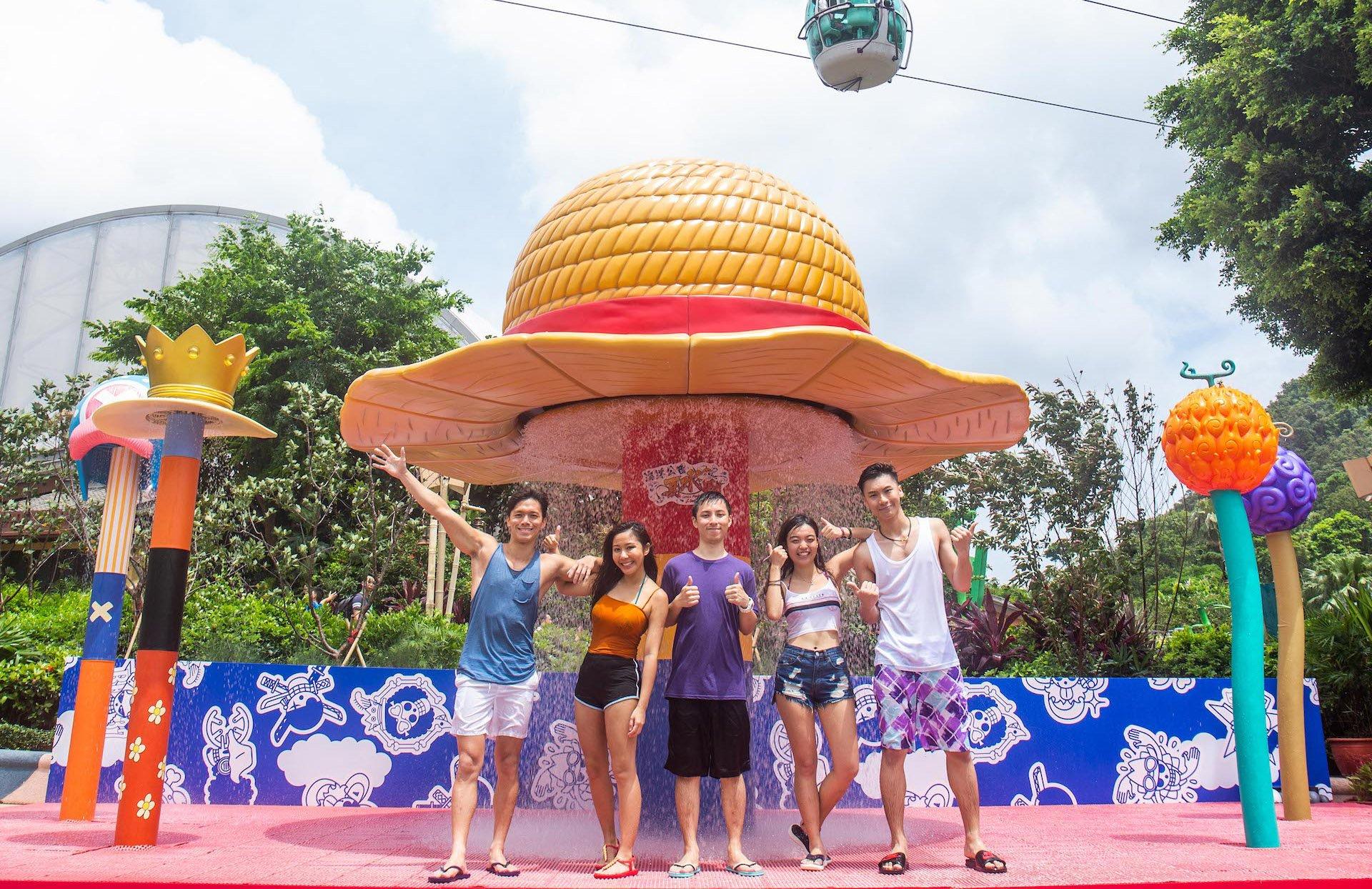 香港海洋公园夏水战正式启动,勇闯海贼王场景!
