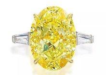 流光溢彩 21.37克拉艳彩黄色钻戒1265万元成交