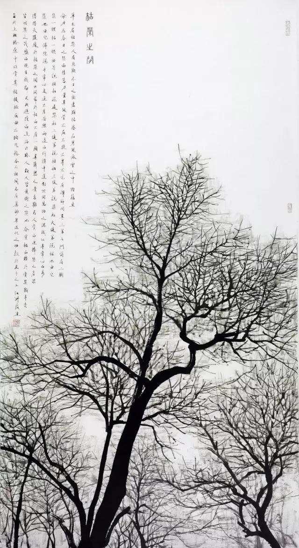 题跋:草木有枯荣,人有悲欢.冬日之树尽显枯容,在寒风和冰雪之中