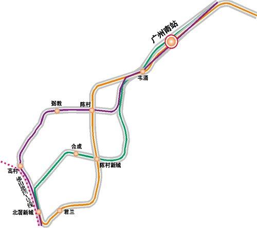 穗地铁7号线延长至顺德 三方案终点均在北滘
