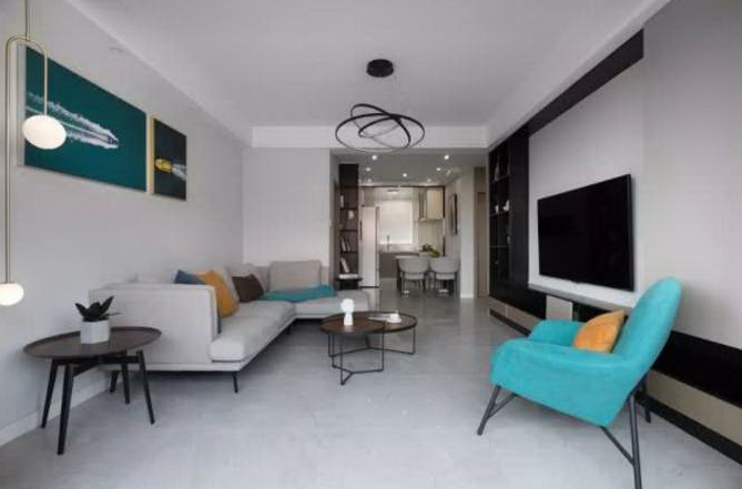 灰色调76平二居室,小户型也能设计出高级感