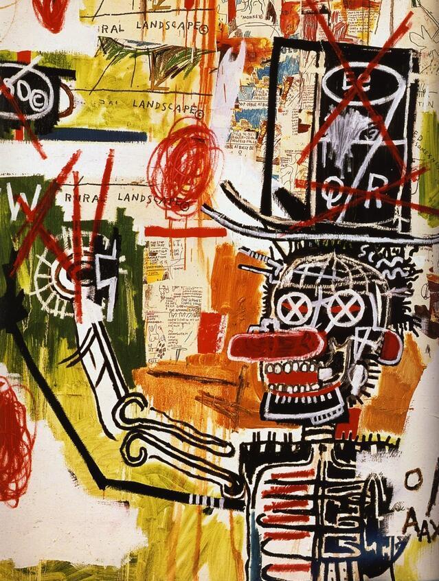 美国当代黑人艺术家 Jean Michel Basquiat 作品赏析